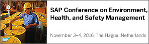 SAP Conference for EHS Management