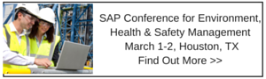 SAP Conference for EH&S Management